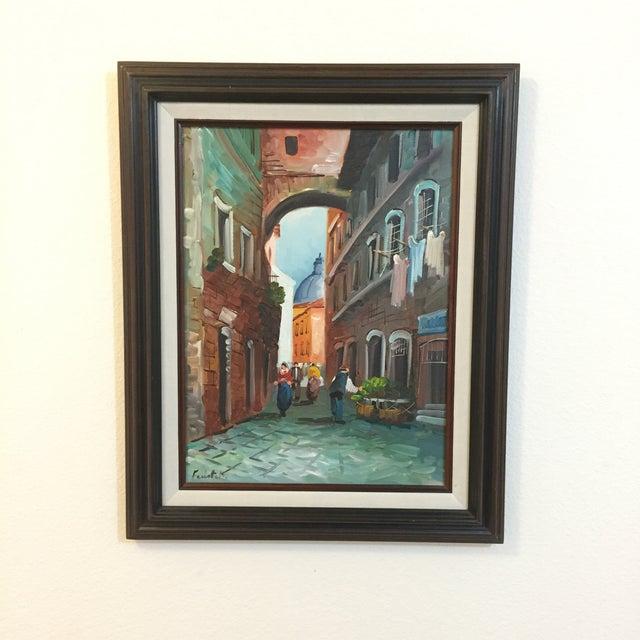 """Roma"" Vintage 1985 Original Oil Painting - Image 3 of 6"