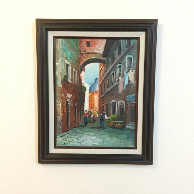 "Image of ""Roma"" Vintage 1985 Original Oil Painting"