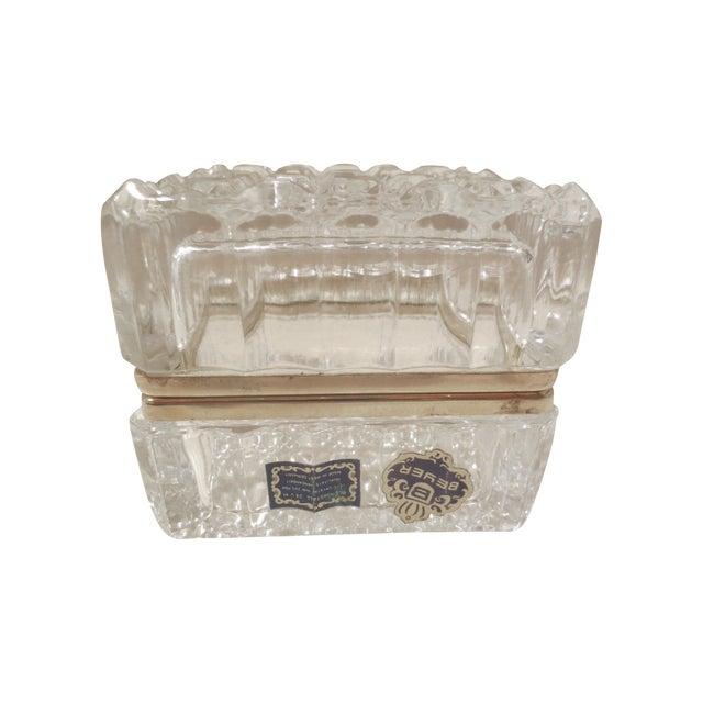 Image of Vintage 1970s Beyer Crystal Glass Vanity Box