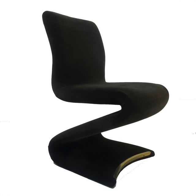 Image of Panton Style Z Dining Chairs With Brass - Set of 6