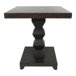 Pair of Cerused Oak Jean Michel-Frank Side Tables by Donghia