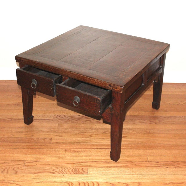 Asian Style Coffee Table With Four Drawers Chairish