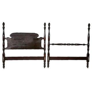 Vintage Mahogany Twin Bed Frame