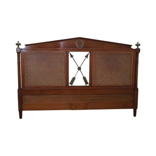 French Louis XV Style Cane Back King Headboard