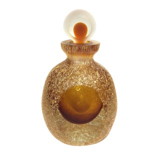 Amber Art Glass Perfume Bottle
