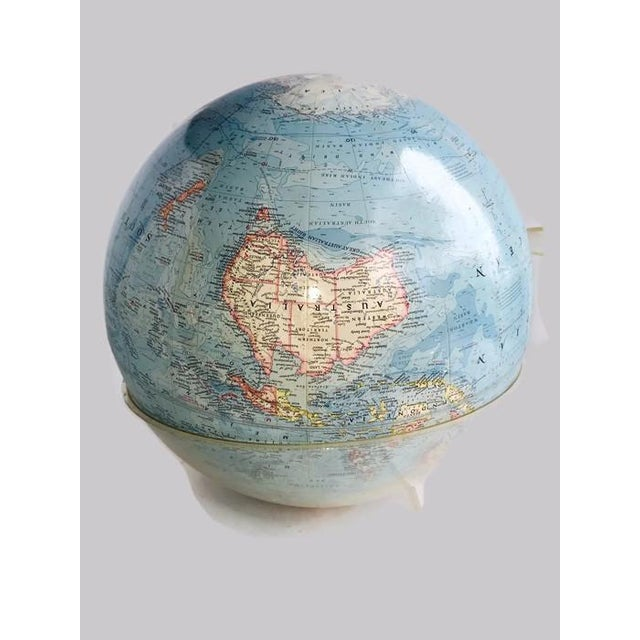 Vintage 1960s Tall Lucite Base World Globe - Image 6 of 7