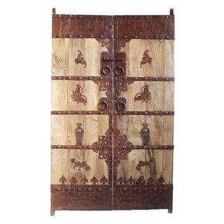Antique Chinese Wood & Iron Door