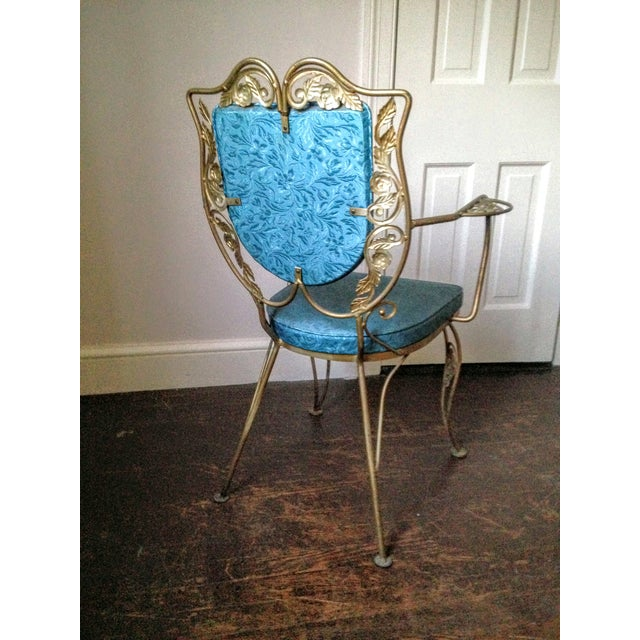 Mid Century Hollywood Regency Accent Chair - Image 3 of 11