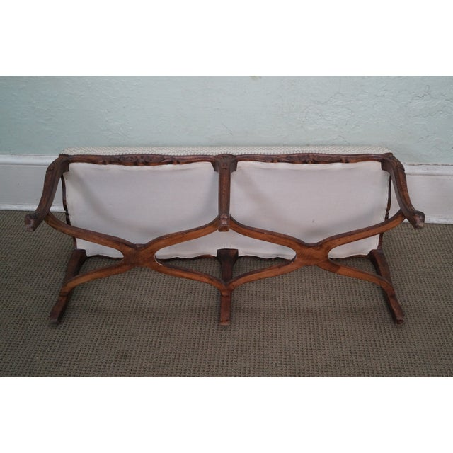 Custom French Louis XV Walnut Window Bench - Image 10 of 10