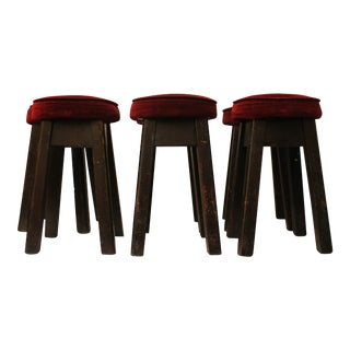 English Bar Stools -- Set of 6