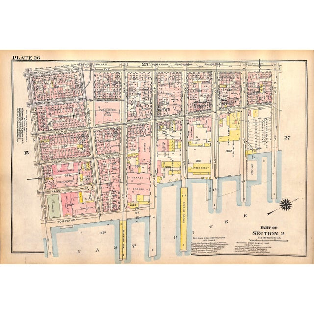Image of 1927 New York City, LES, Hamilton Fish Park Map