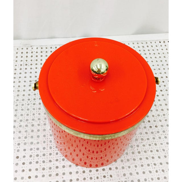 Vintage Red & Gold Ice Bucket - Image 7 of 10