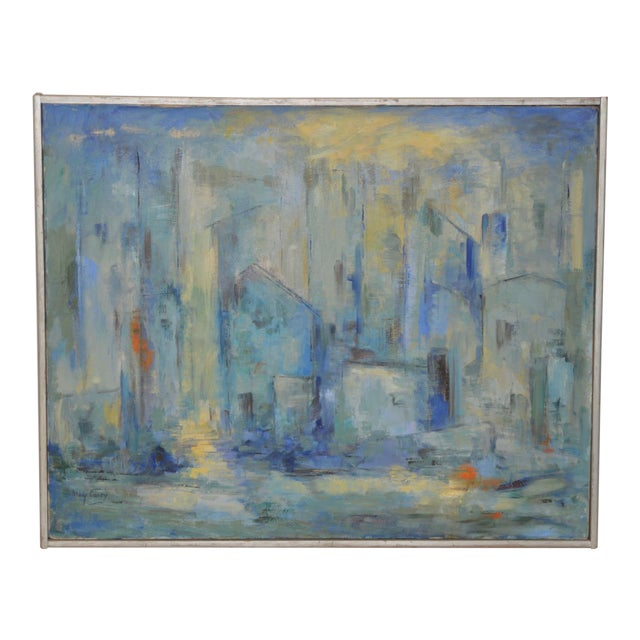 Mid Century Modern Abstract Cityscape by Mary Carey c.1950s - Image 1 of 7