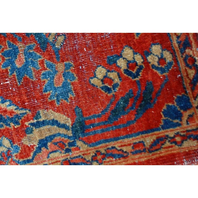 "Antique Persian Mahal Vagireh Rug - 2'1"" X 3'10"" - Image 7 of 10"
