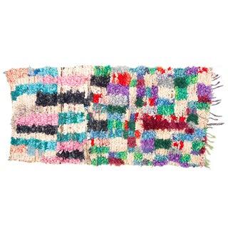 Boucherouite Hand Loomed Rug - 2′6″ × 5′6″