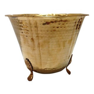 Hammered Brass Champagne Ice Bucket