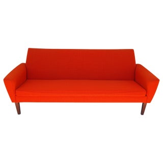 Red Danish Modern Sofa