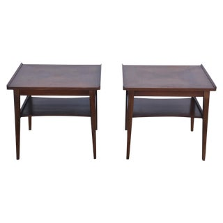 Mid-Century Walnut Side Tables - A Pair