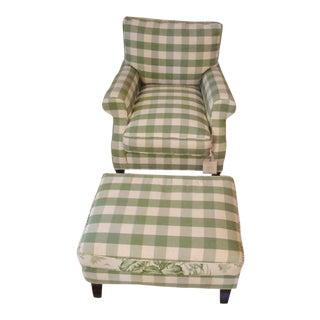 Henredon St. Germain Chair and Ottoman