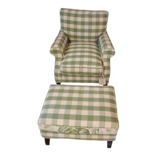 Henredon St. Germain Chair and Ottoman
