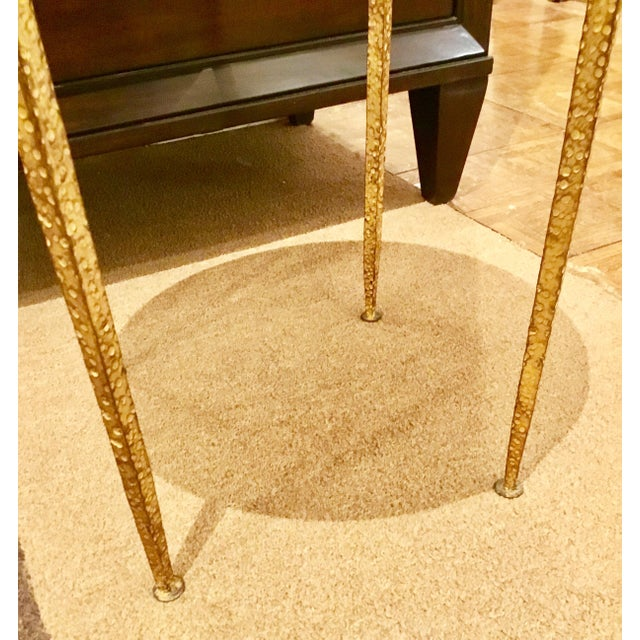 Arteriors Round Hammered Metal Table - Image 4 of 6