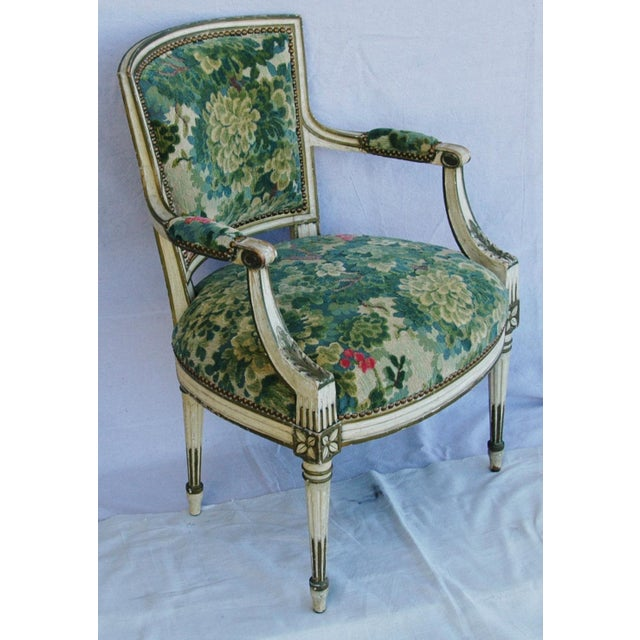 Scalamandre Marly Velvet Tapestry Fabric Armchair - Image 7 of 11