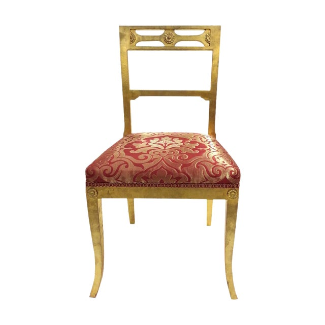 Image of Gold Leafing Side Chair