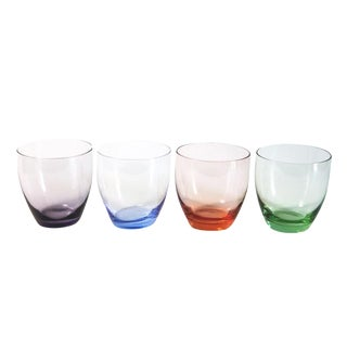 Colored Juice Glasses - Set of 4