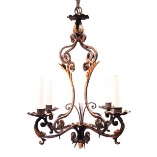 4 Light Iron Chandelier