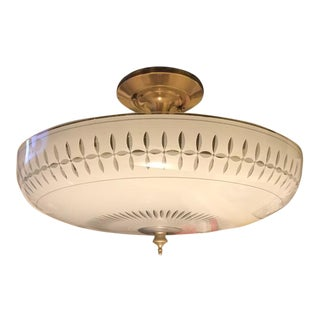 Mid-Century Semi-Flush Light