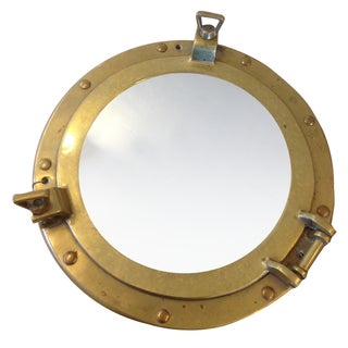 Decorative Brass Porthole Mirror