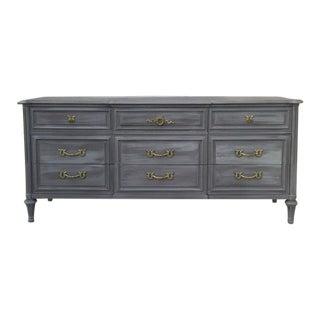 Vintage Charcoal Plum Triple Dresser