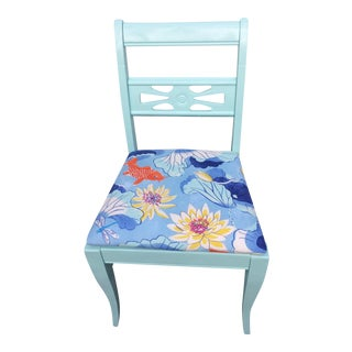 Painted Dining/Accent Chair, Reupholstered Seat