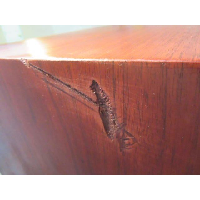 Danish Modern Walnut Tall Dresser Pencil Leg - Image 11 of 11