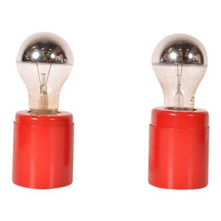 "Pair of ""SP14"" Lights by Gino Sarfatti for Arteluce, Italy, circa 1960"