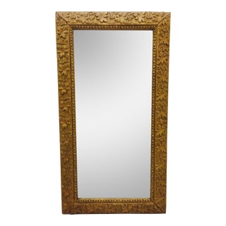 Antique Gold Giltwood & Gesso Mirror