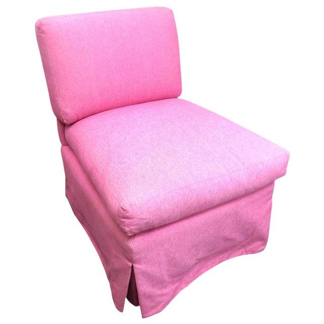 Edward Ferrill LTD Pink Armless Chair - Image 1 of 5