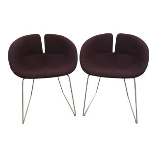 Patricia Urquiola Fjord Purple Chairs - A Pair