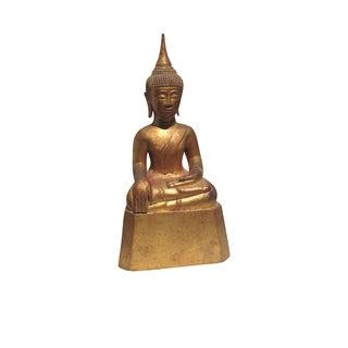 Vintage Gold Wooden Buddha Statue