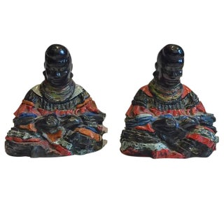 Mid-Century Modern African Tribal Statues - A Pair