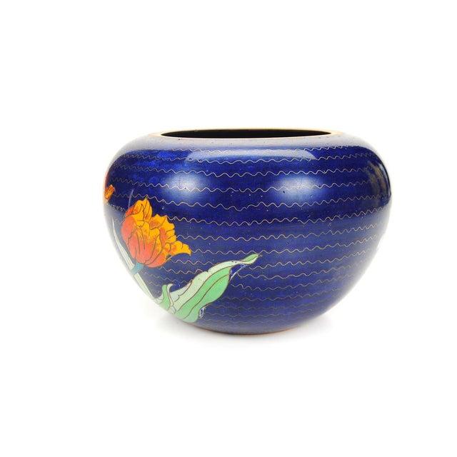 Japanese Antique Blue Cloisonne Vase - Image 4 of 7