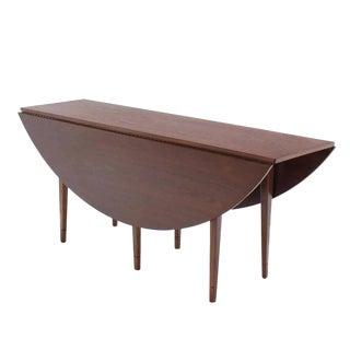 Drop Leaf Walnut Dining Table
