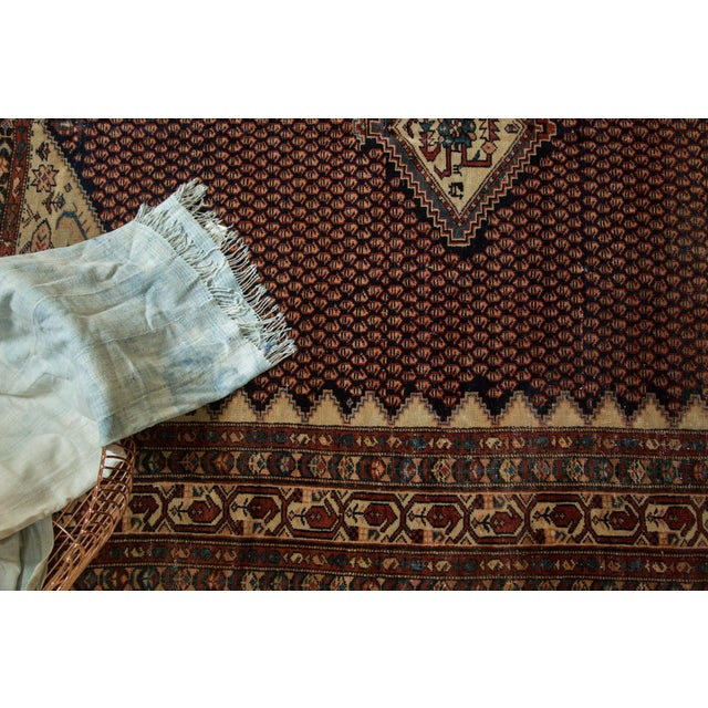 """Vintage Mission Malayer Square Rug - 5'5"""" x 6'7"""" - Image 5 of 10"""