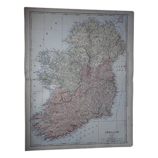 "Antique Map of Ireland-27.5""x21.25"""