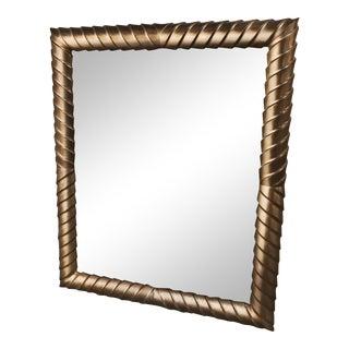 Framed Mirror With Beveled Edges