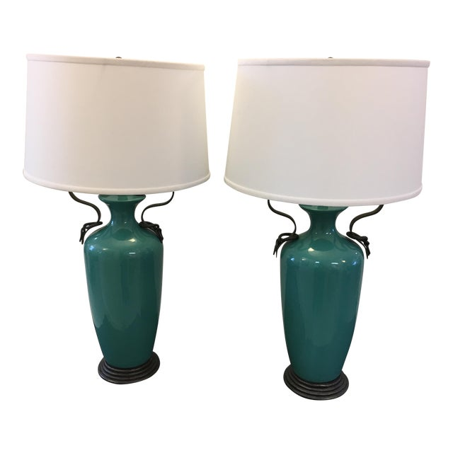 Image of Vintage Frederick Cooper Lamps - A Pair