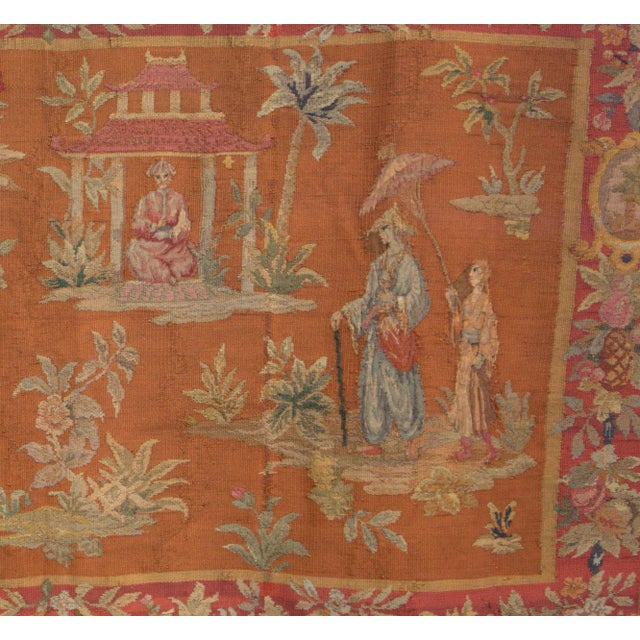 Antique Large Aubusson Tapestry - Image 3 of 4