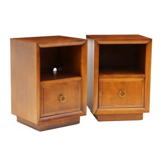 T.H. Robsjohn-Gibbings Widdicomb Nightstands- Pair