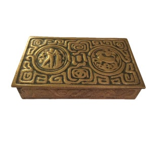 Tiffany Studios Zodiac Stamp Box