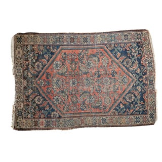 "Distressed Antique Malayer Square Rug - 2'10"" X 4'"